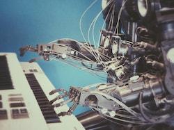 Piano-playing robot