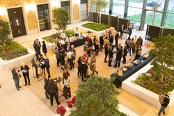 People networking during reception at 1Europe Kick Off Event